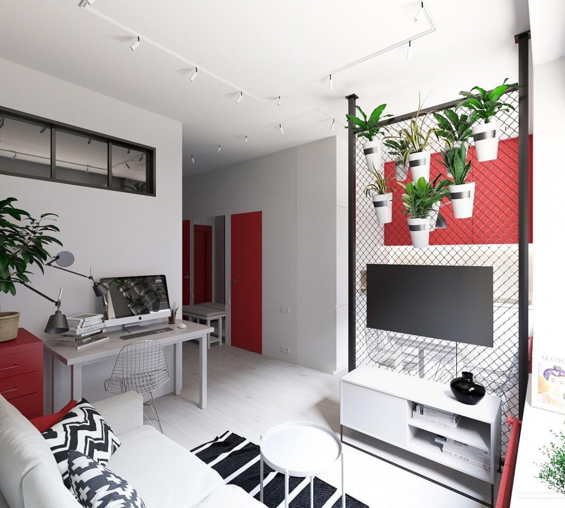 12 Small Apartments That Rock Uncommon Color Schemes [With Floor Plans] - Apartment Design Color Scheme