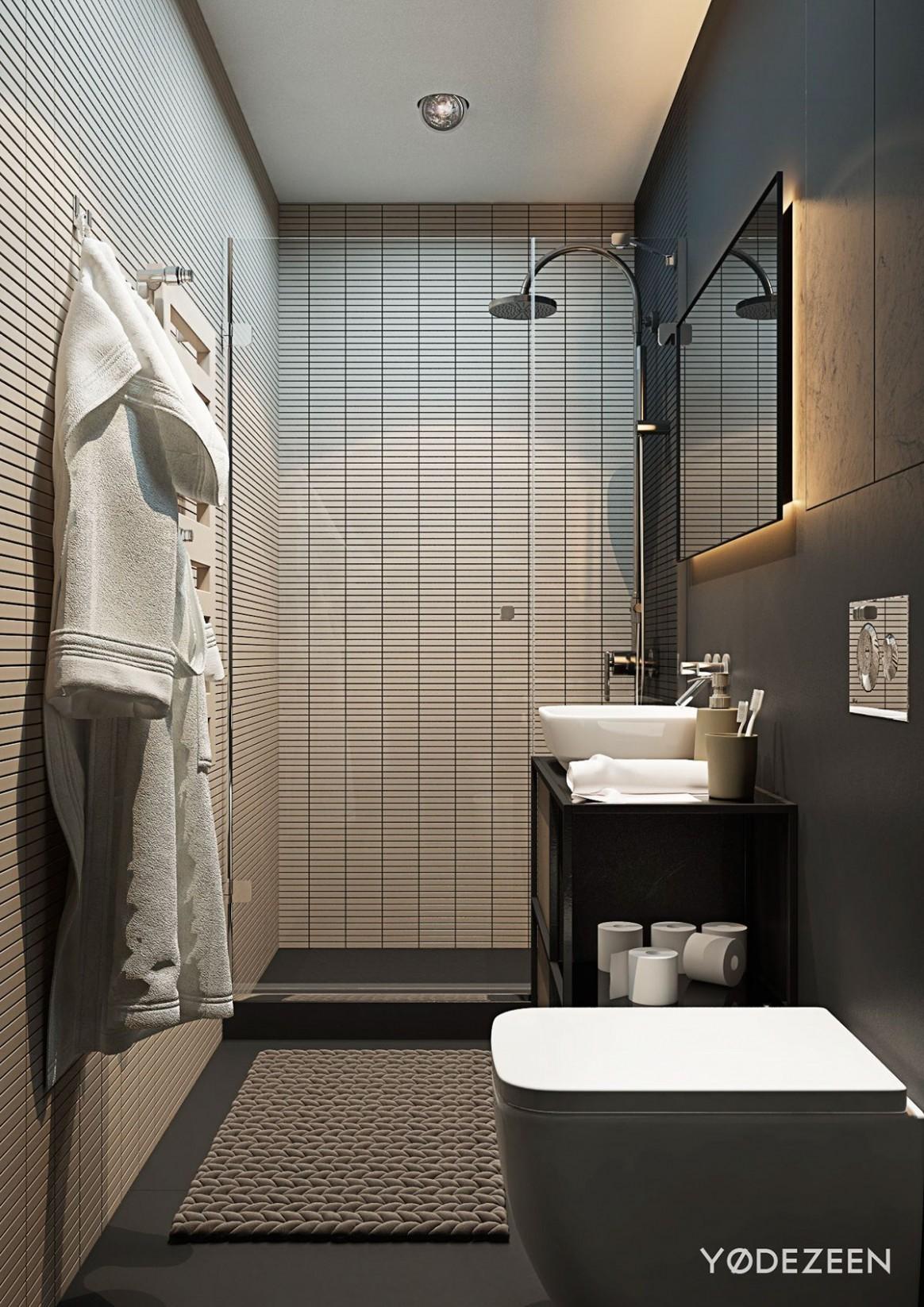 12 Small Studio Apartments With Beautiful Design - Apartment Washroom Design
