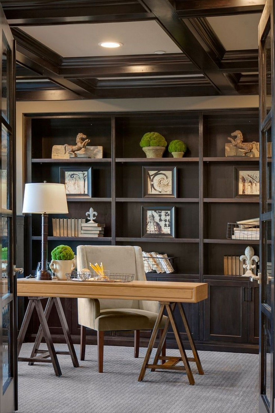 12 This Office Staging Is Well Organized  Home office design  - Home Office Ideas Male
