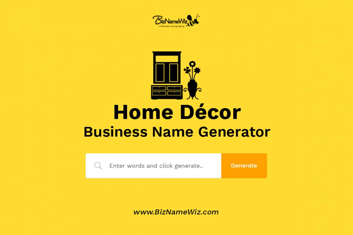 8,8+ Home Décor Business Name Ideas + Availability Check - Home Office Business Name Ideas