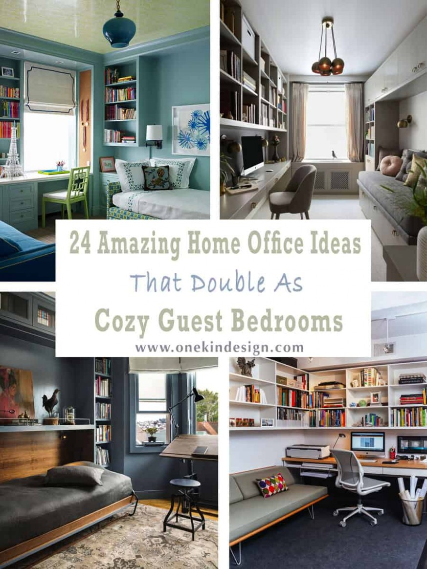 8 Amazing Home Office Ideas That Double As Cozy Guest Bedrooms - Home Office Ideas Spare Bedroom