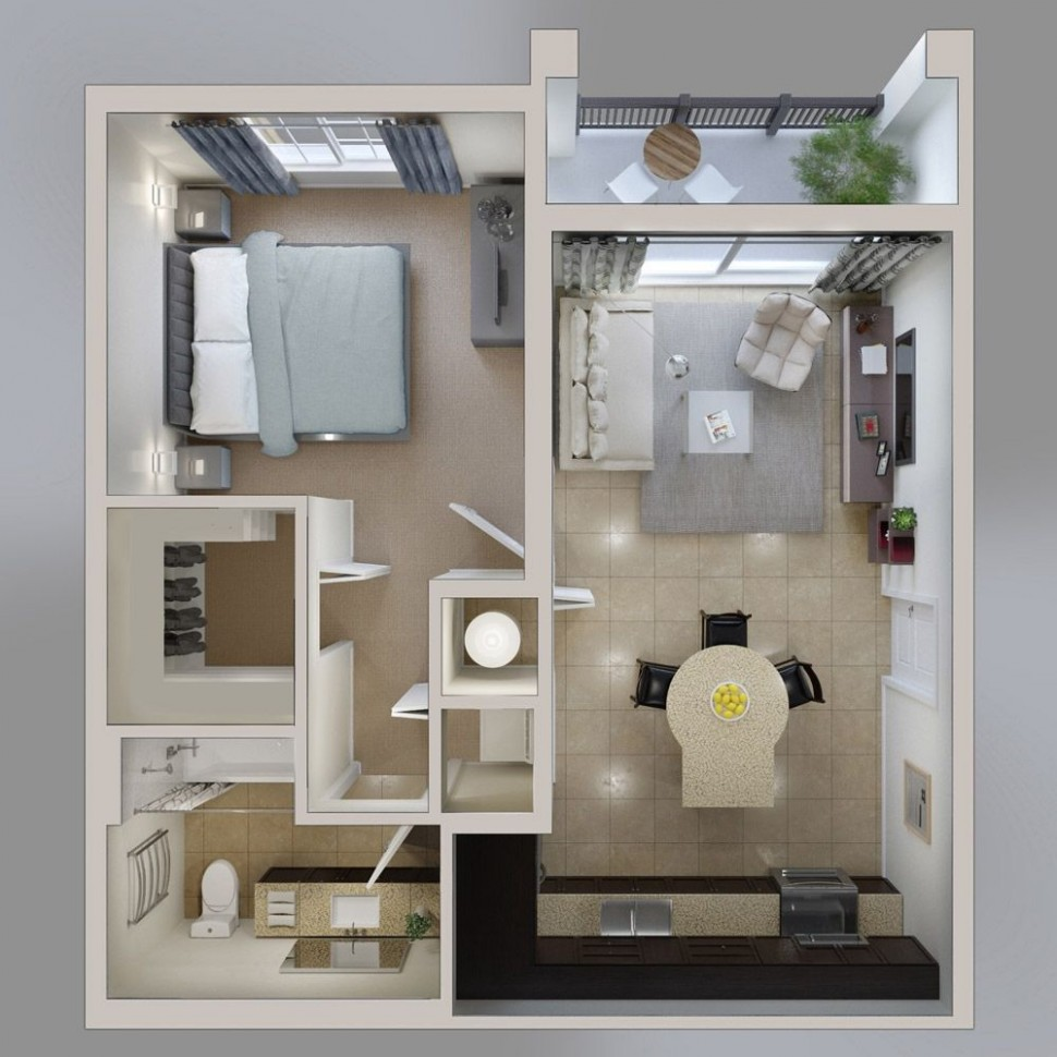 8 Bedroom Apartment/House Plans  Apartment layout, Apartment  - Apartment Design One Bedroom
