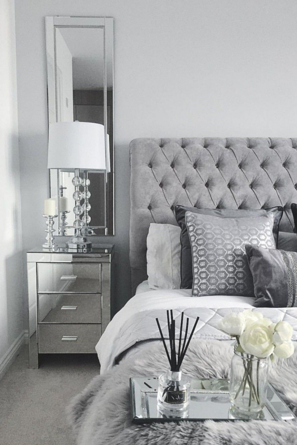 8 Best Of Grey and Silver Bedroom Ideas#bedroom #grey #ideas  - Bedroom Ideas Silver