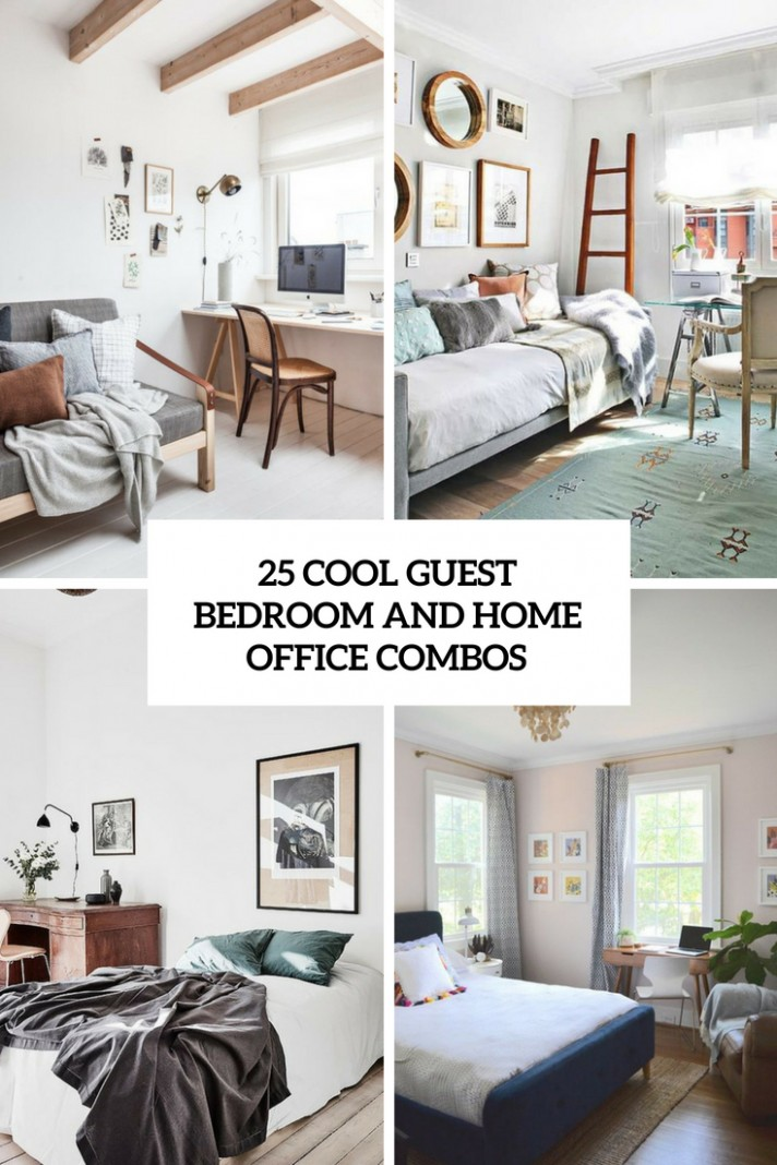 8 Cool Guest Bedroom And Home Office Combos - DigsDigs - Home Office Ideas Spare Bedroom