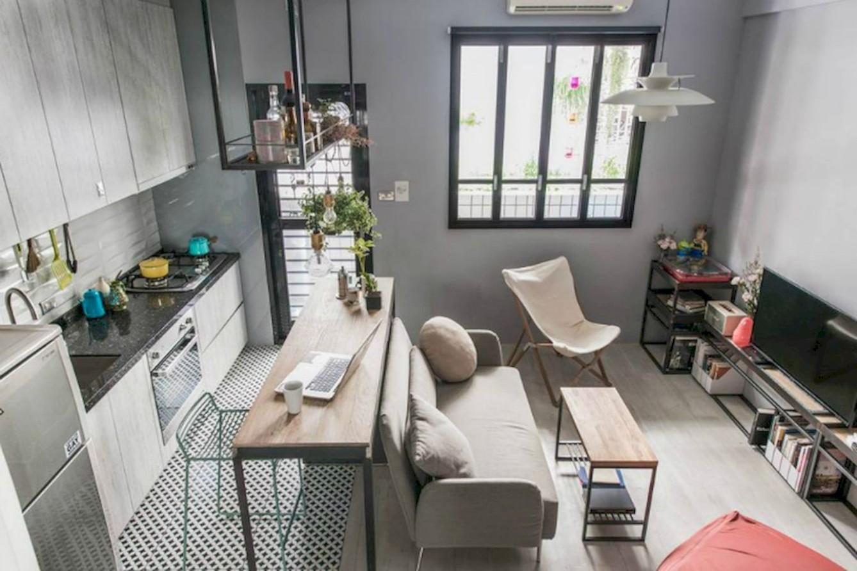 8 Cozy Minimalist Studio Apartment Decor Ideas - ROUNDECOR  - One Room Apartment Decor Ideas