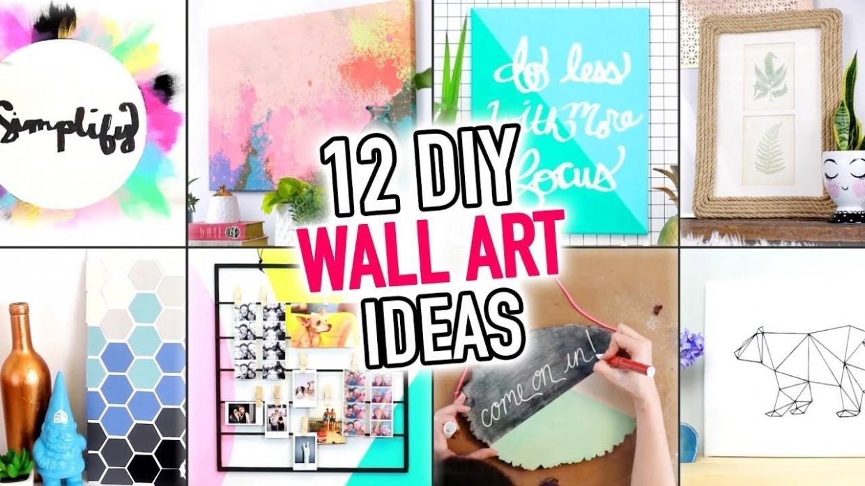 8 EASY Wall Art & Room Decoration Ideas - DIY Compilation Video - HGTV  Handmade - Bedroom Wall Decor Ideas Video
