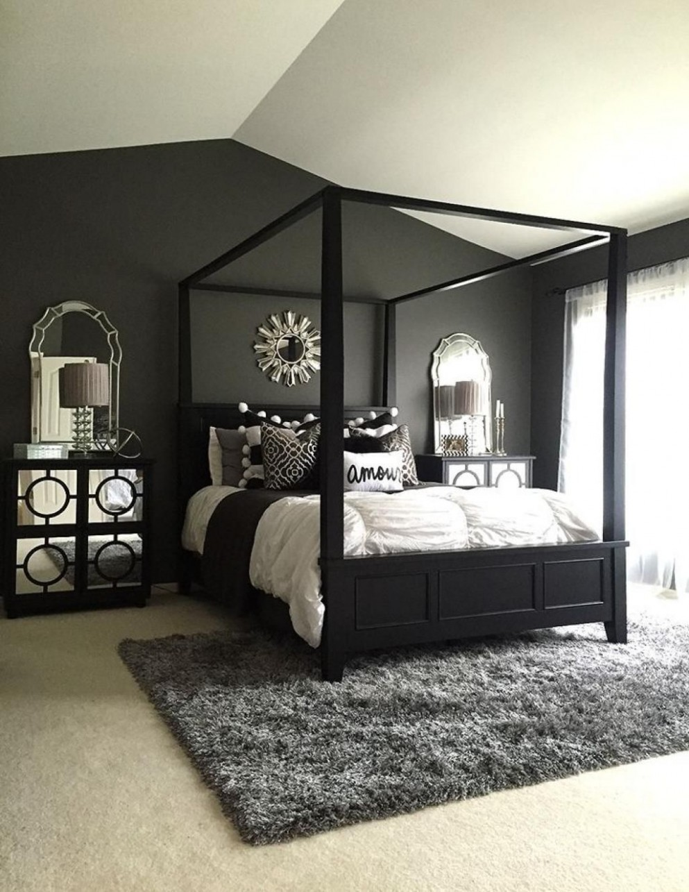 8 Elegant Black Bedroom Decorating Ideas  Black master bedroom  - Bedroom Ideas Black