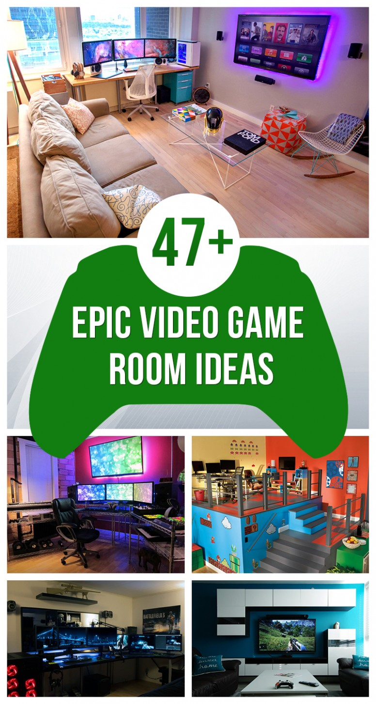 8+ Epic Video Game Room Decoration Ideas for 8 - Bedroom Wall Decor Ideas Video