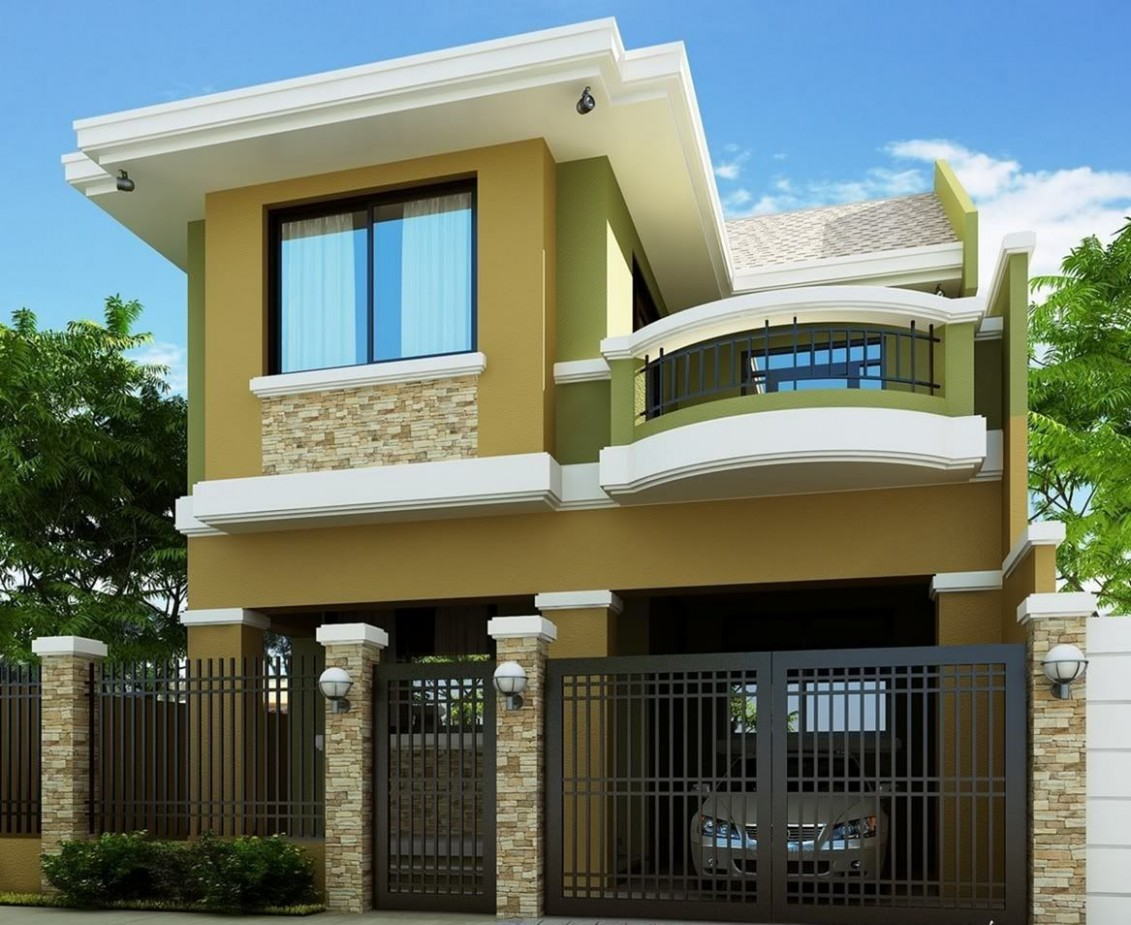 8+ Fabulous Two-storey House Designs For Romantic Young Families  - Apartment Design Two Storey