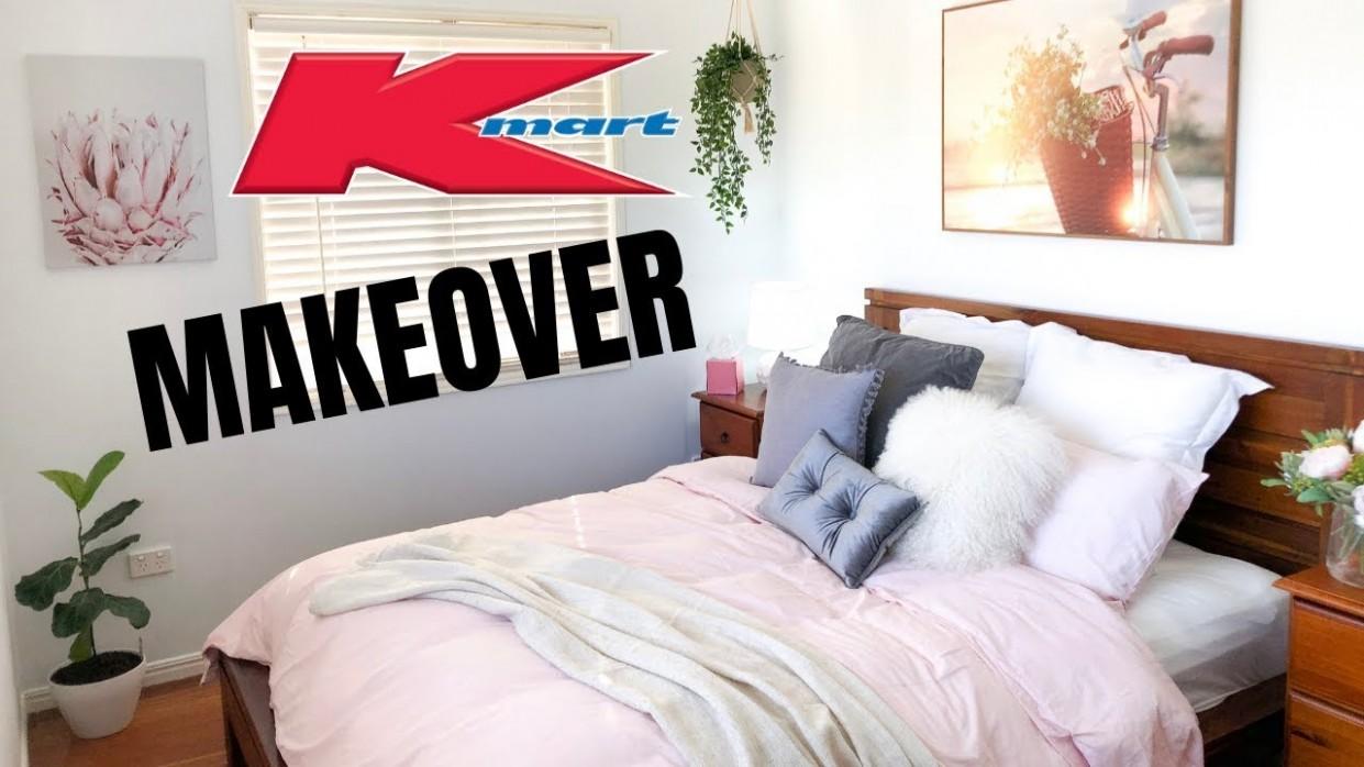 $8 KMART BEDROOM MAKEOVER & HAUL 8 - Bedroom Decorating Ideas Kmart