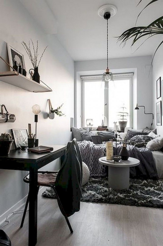 8+ Lovely Small Studio Apartment Decor Ideas  Apartment bedroom  - One Room Apartment Decor Ideas