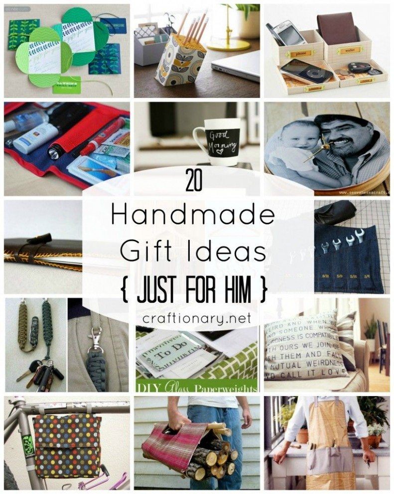 8 Men Gift Ideas Just for HIM - Craftionary  Diy gifts for him  - Home Office Gift Ideas For Him