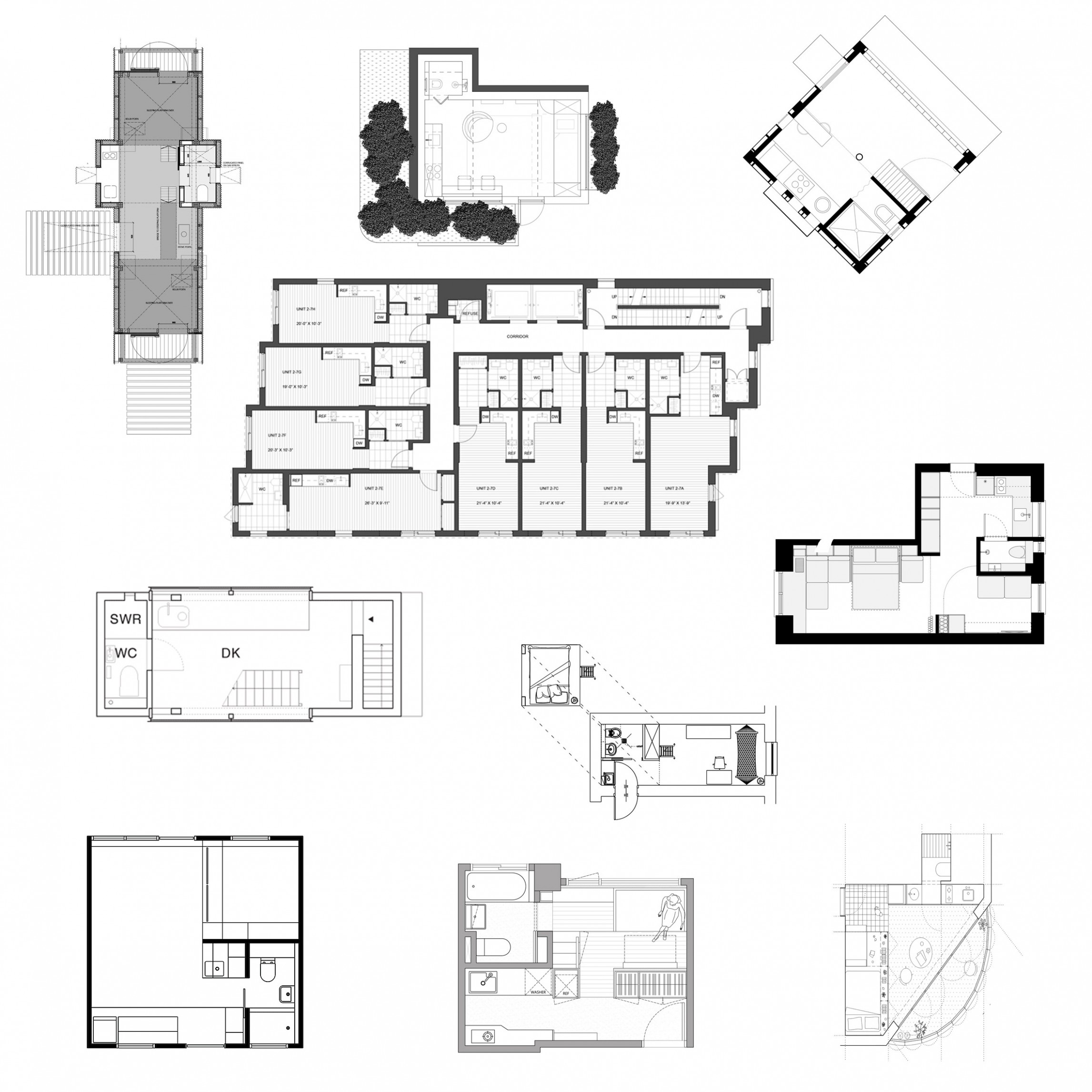8 micro home floor plans designed to save space - Apartment Design Drawing