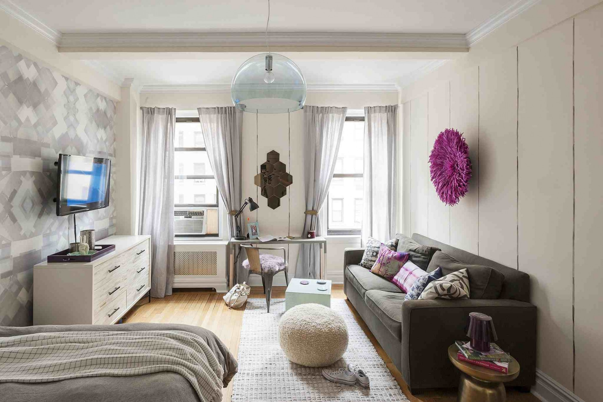 8 Perfect Studio Apartment Layouts That Work - One Room Apartment Decor Ideas