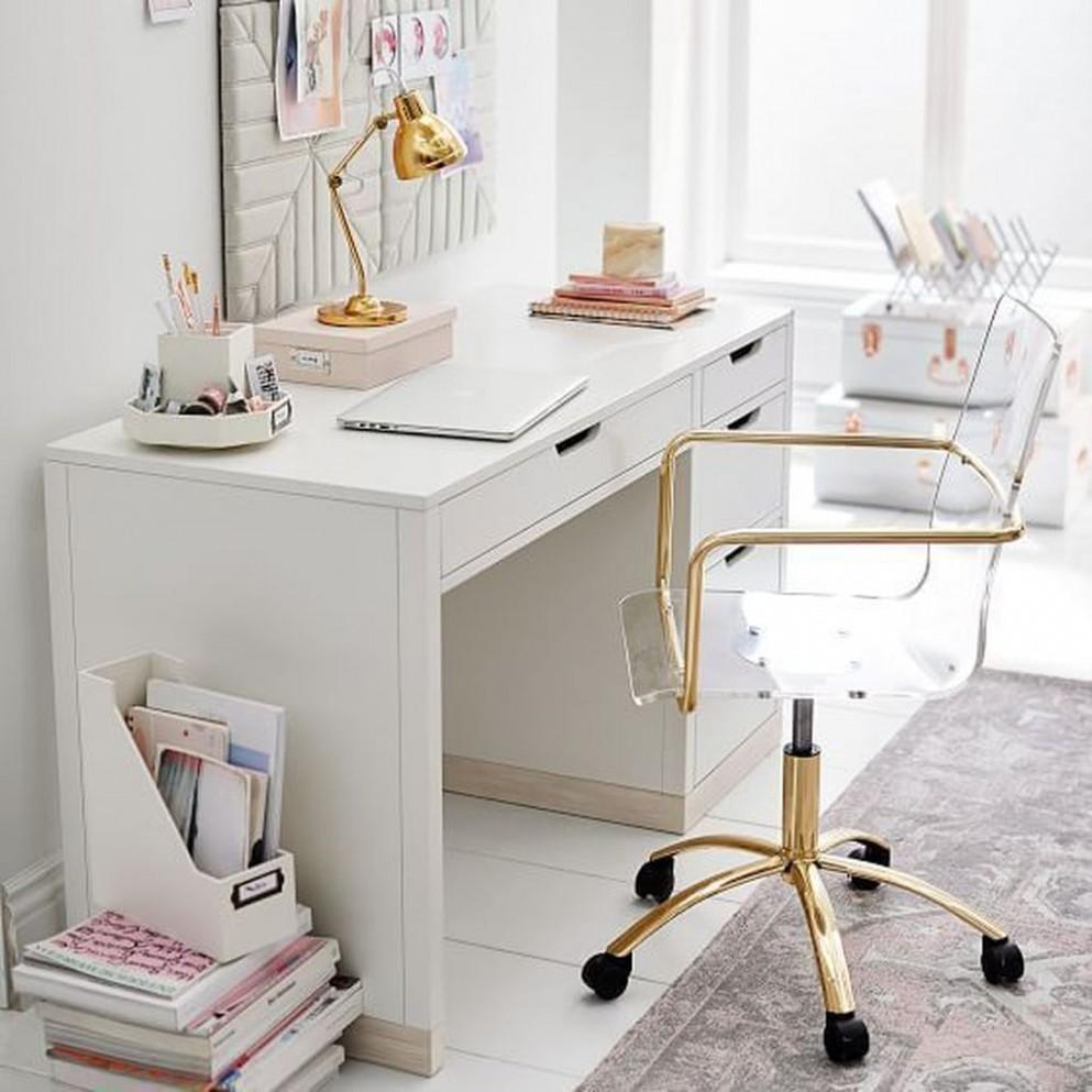 8 Stunning White Desk Office Ideas Best For Home Office - BELIHOUSE - Home Office Ideas White