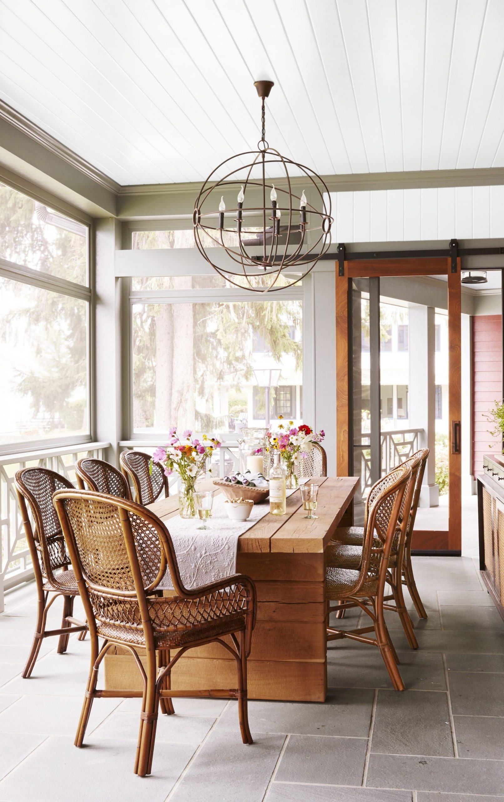 8 Sunroom Decorating Ideas - Best Designs for Sun Rooms - Sunroom Dining Room Ideas