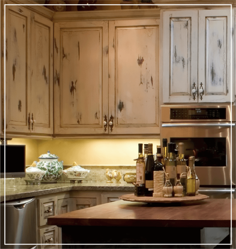 8 Types of Kitchen Cabinet Finishes - Kitchen Cabinet Kings - Distressed Kitchen Cabinets Pictures