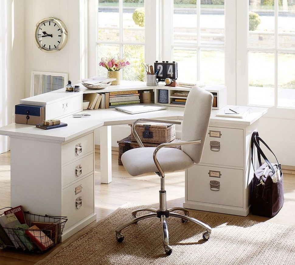 8 Ways to Decorate Home Office in White - Home Office Ideas White