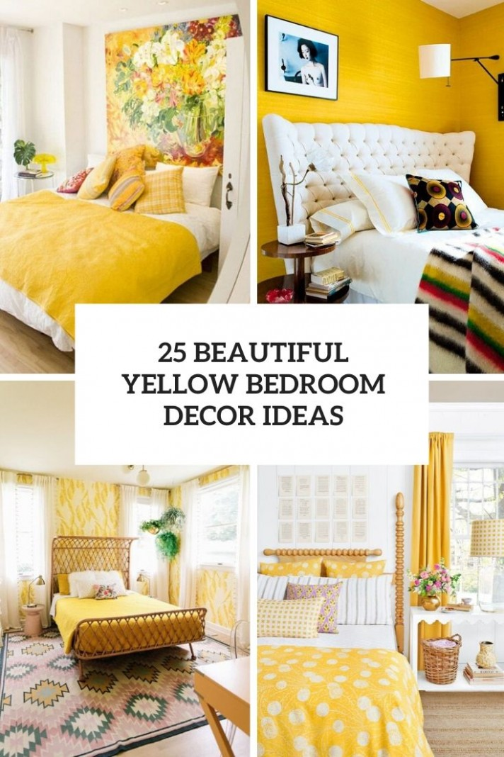 9 Beautiful Yellow Bedroom Decor Ideas - Shelterness - Bedroom Ideas Yellow