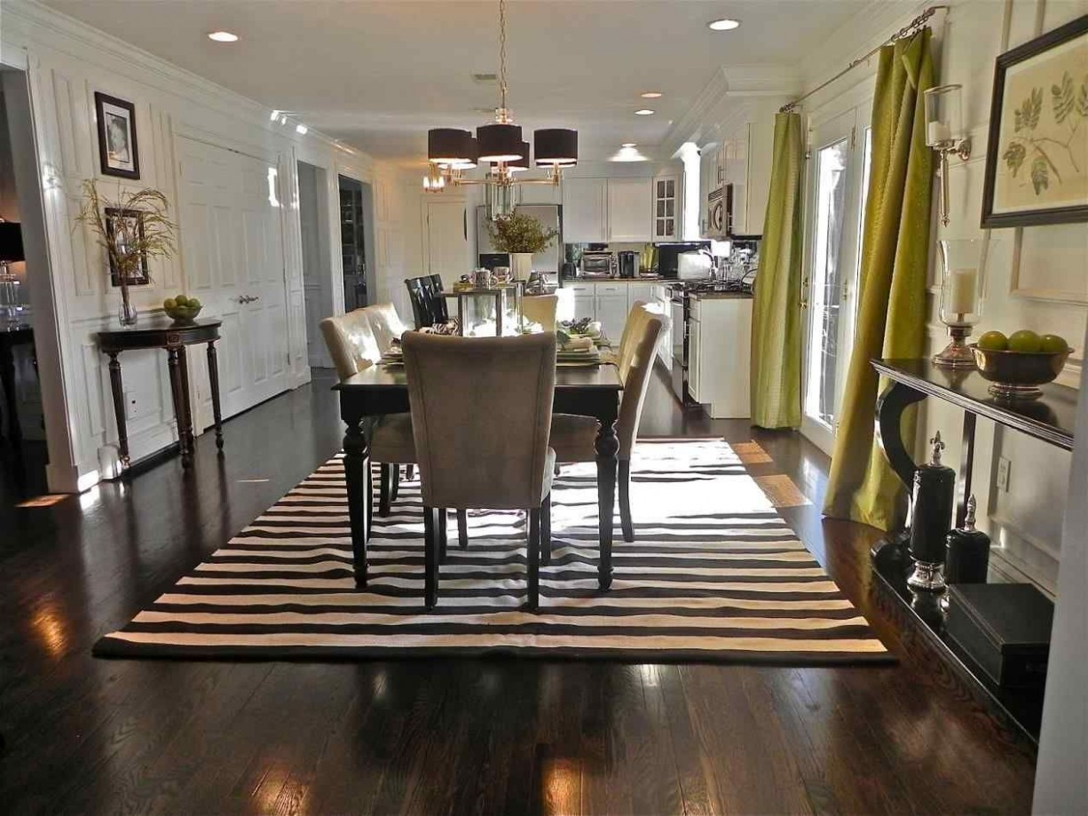 9 Best Rugs Ideas For Dark Hardwood Floors — BreakPR  Dining  - Dining Room Ideas With Hardwood Floors