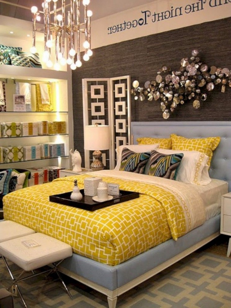 9+ Cozy Grey Yellow Bedrooms Decorating Ideas  Yellow bedroom  - Bedroom Ideas Yellow