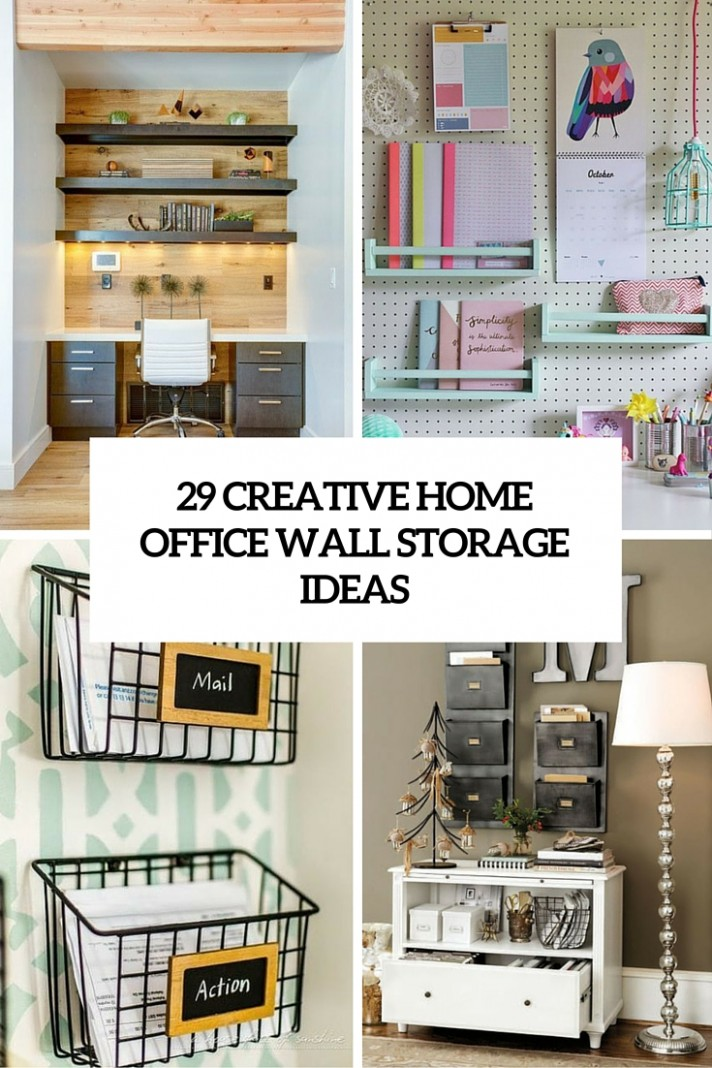 9 Creative Home Office Wall Storage Ideas - Shelterness - Home Office Ideas With Storage