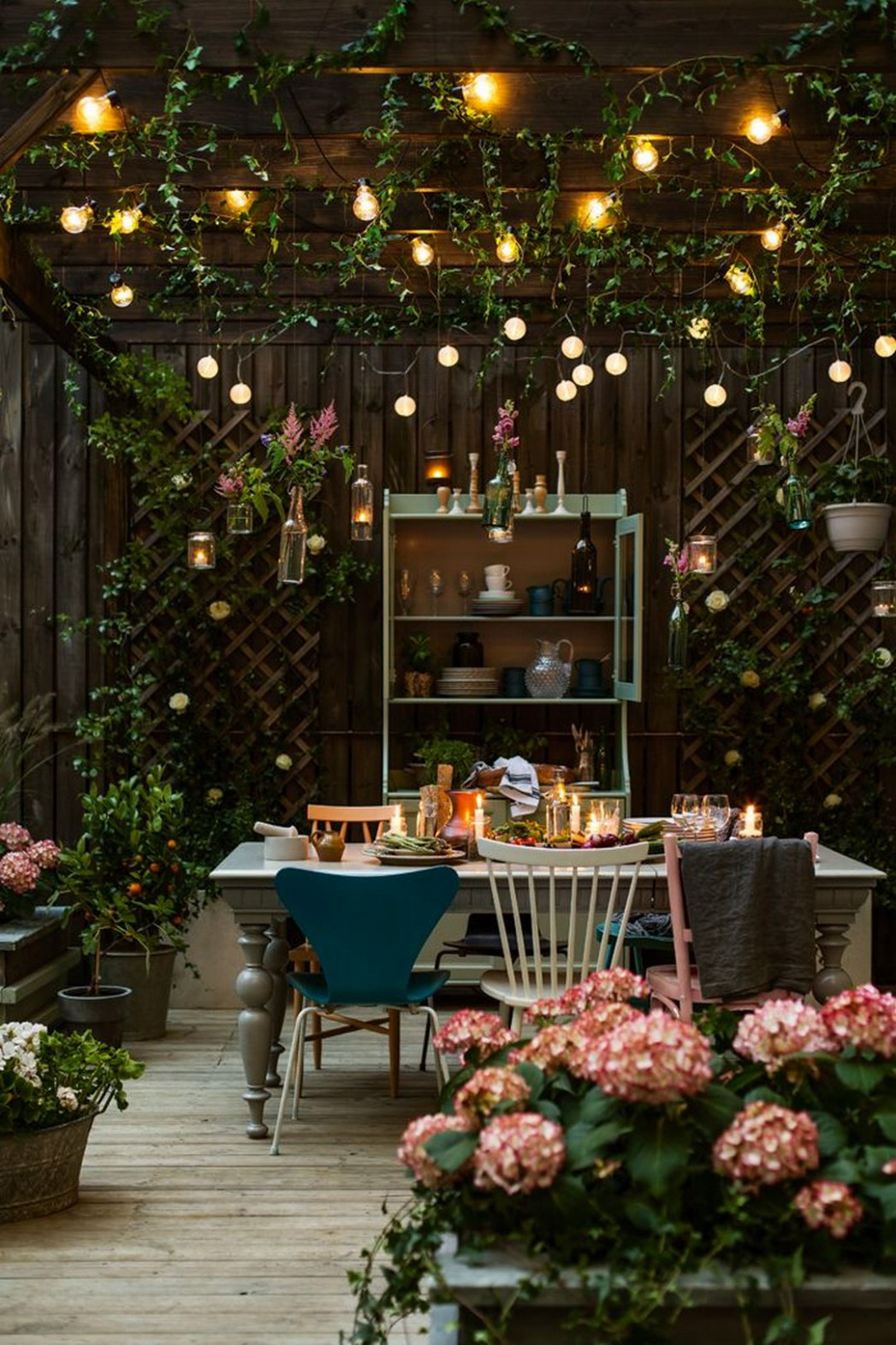 9 Delicious Ideas for Dining Room Furniture  Backyard lighting  - Dining Room Garden Ideas