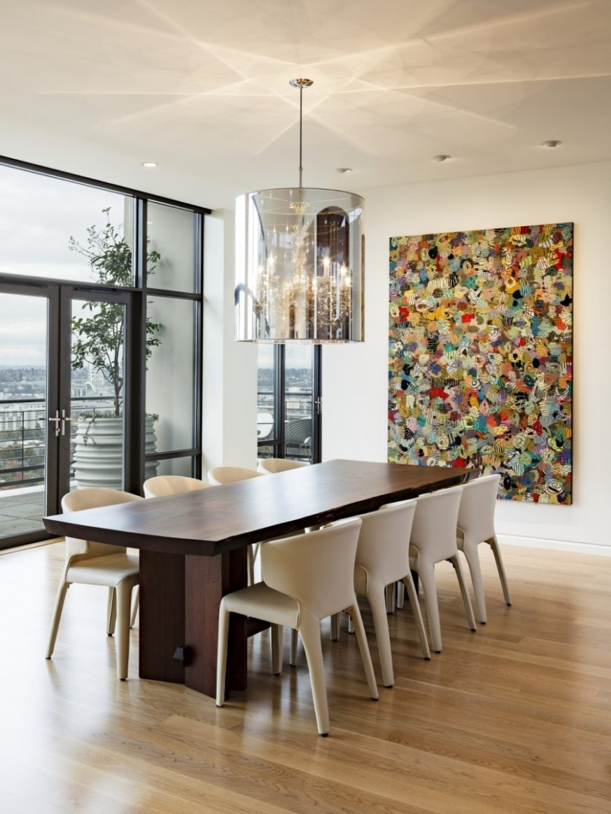 9 Dining Rooms Featuring Artworks That Make All The Difference - Dining Room Artwork Ideas