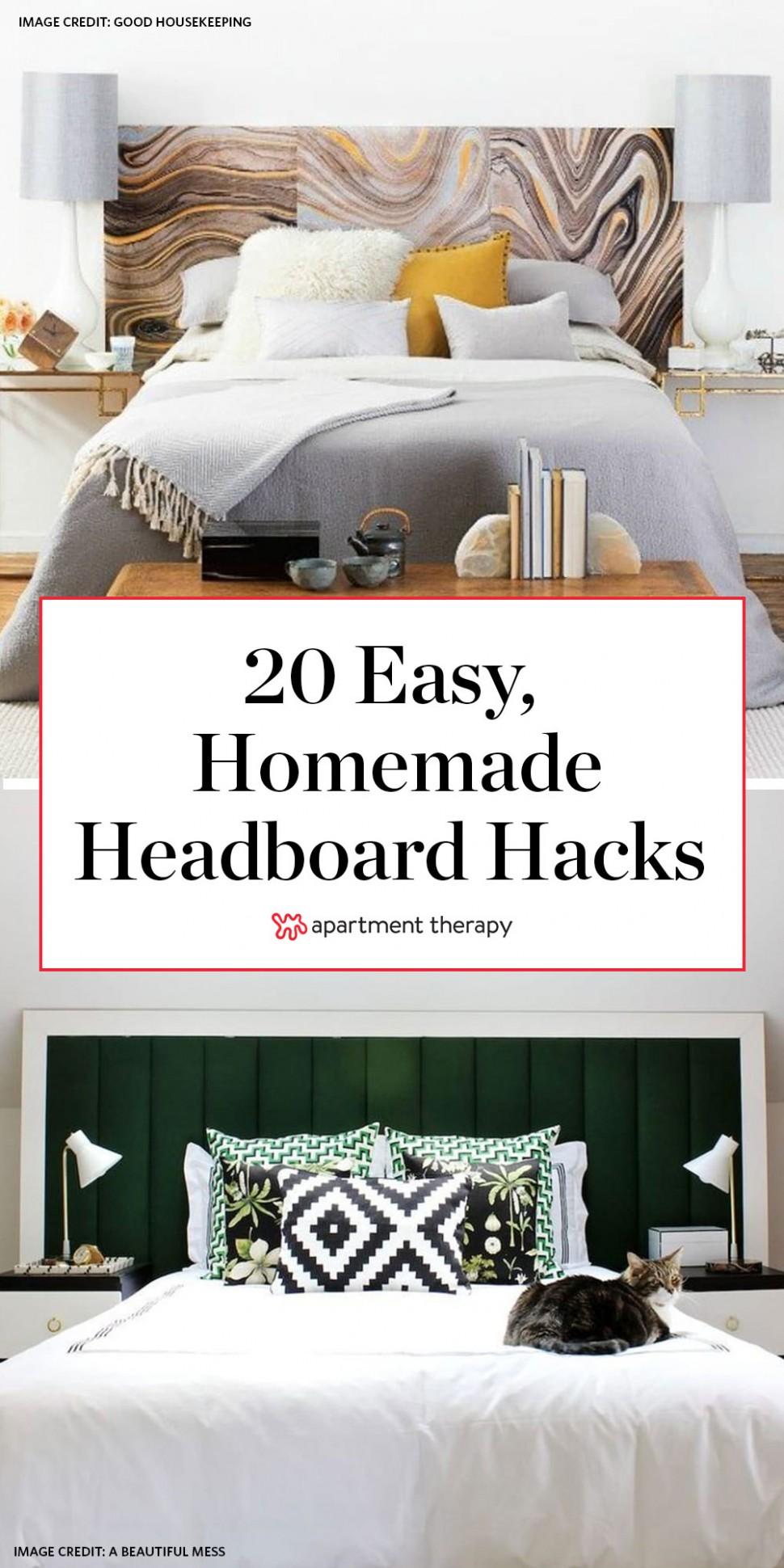 9+ Easy DIY Homemade Headboard Ideas - How to Make a Bed  - Bedroom Ideas Headboard