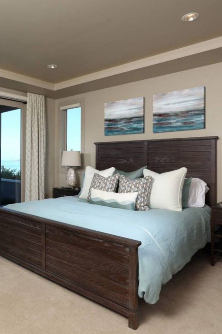 9+ Guest Bedroom Decor Ideas - Dark Furniture, simple, blue  - Bedroom Ideas With Dark Furniture