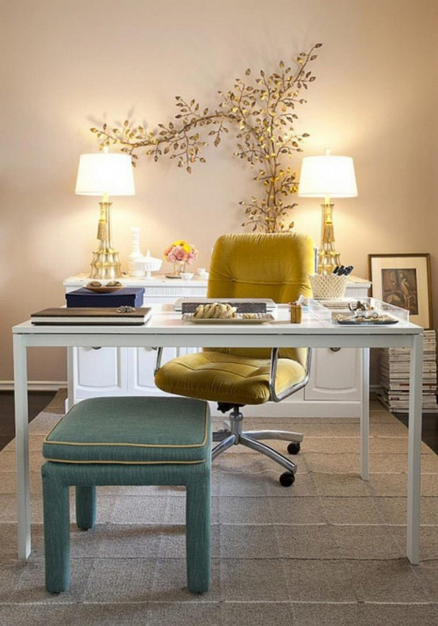 9 Ideas For Creating The Ultimate Home Office - Yellow Home Office Decorating Ideas