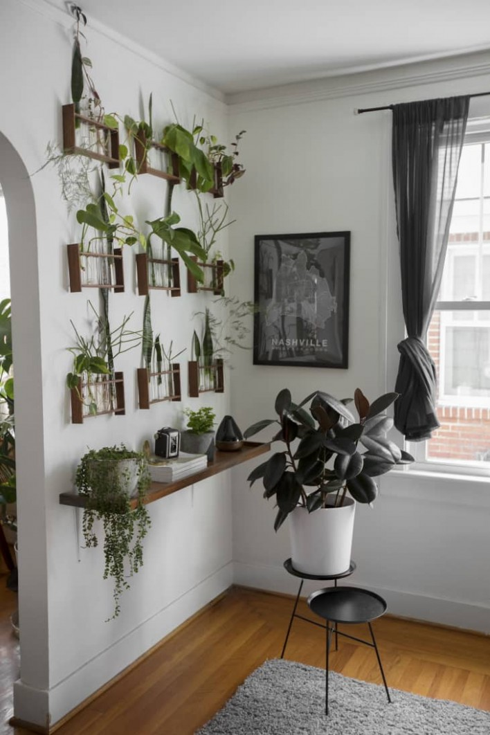 9 Indoor Garden Ideas - How to Make a Garden Inside Your Home  - Dining Room Garden Ideas