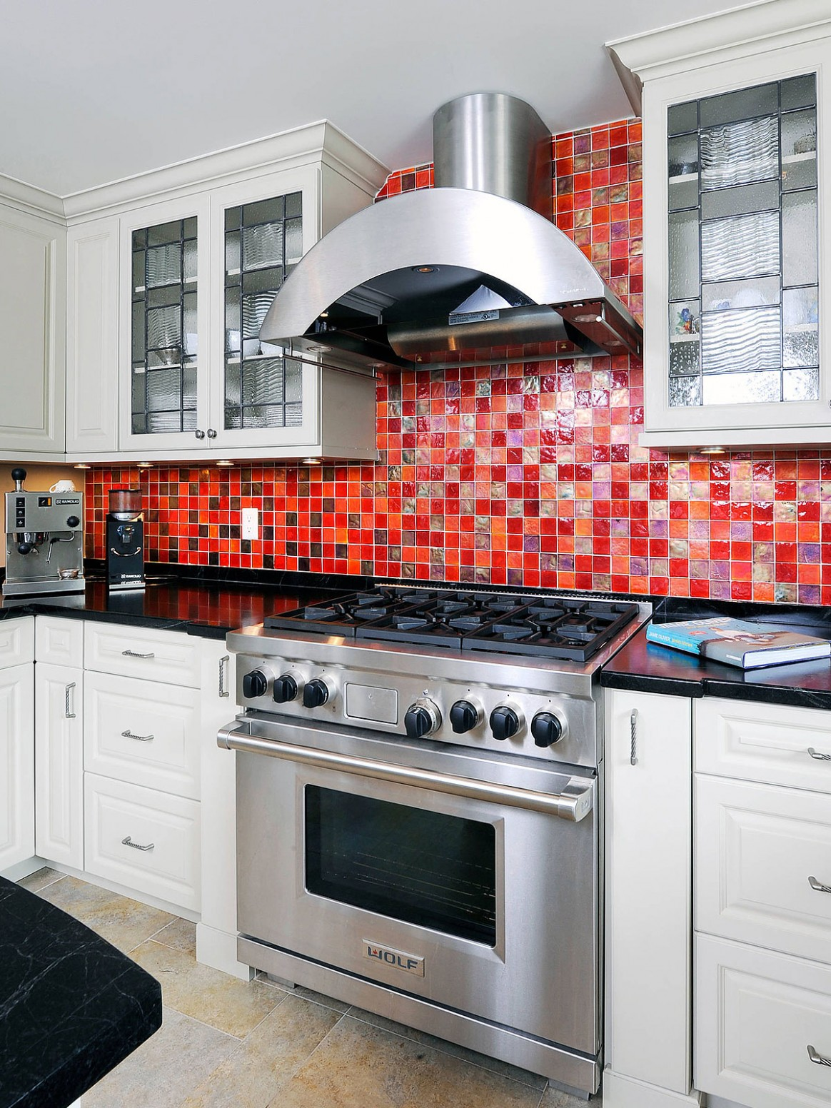 9+ Red Backsplash Ideas - ( A Powerful Color ) Red Statement! - Backsplash For Red Kitchen Cabinets