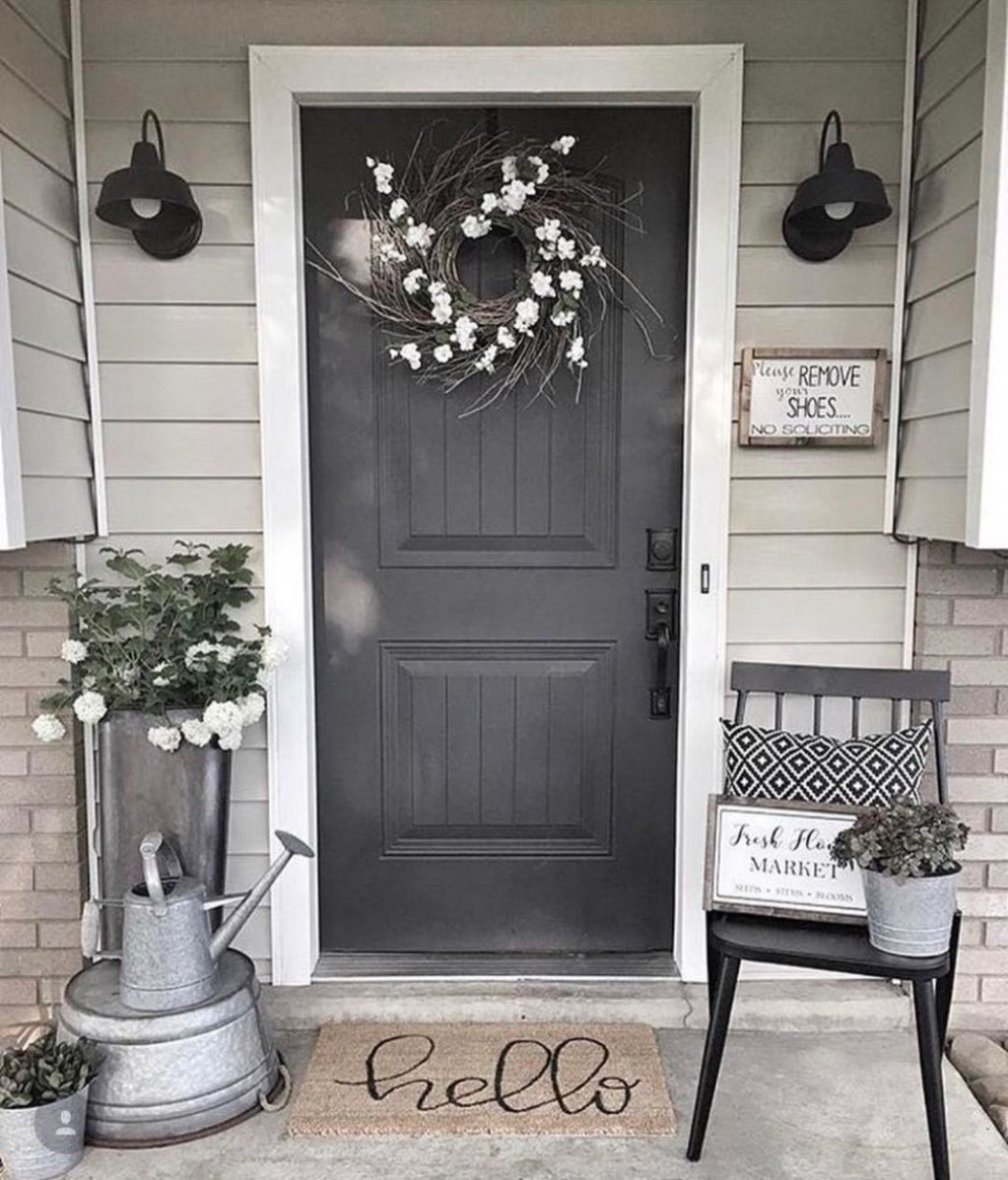 9 Unique Apartment Small Porch Decorating Ideas  Front porch  - Apartment Front Door Decor Ideas