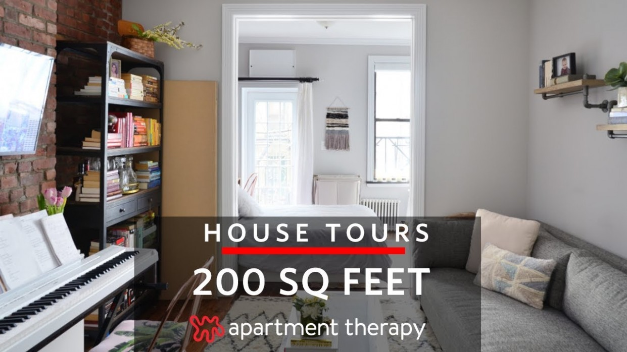 A 8-Square-Foot Studio  House Tours  Apartment Therapy - Tiny Apartment Design Under 200 Sf