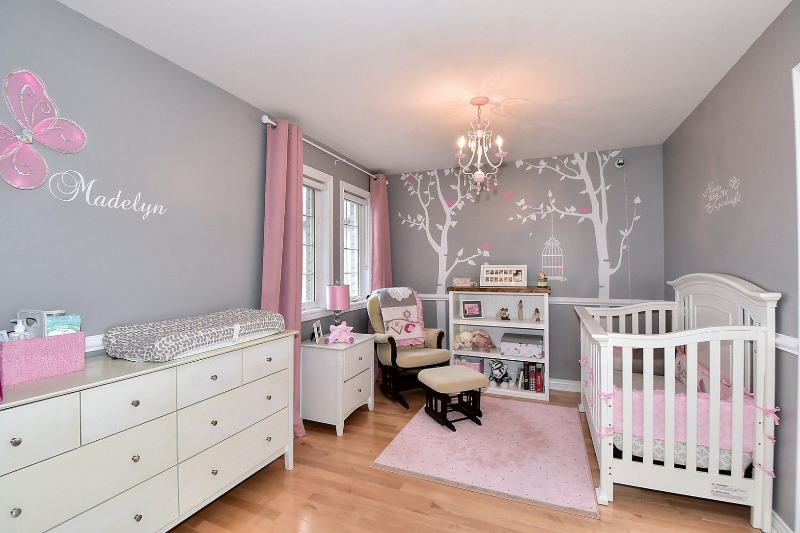 A beautiful example of using #popdecors #walldecal for #nursery  - Baby Room Examples