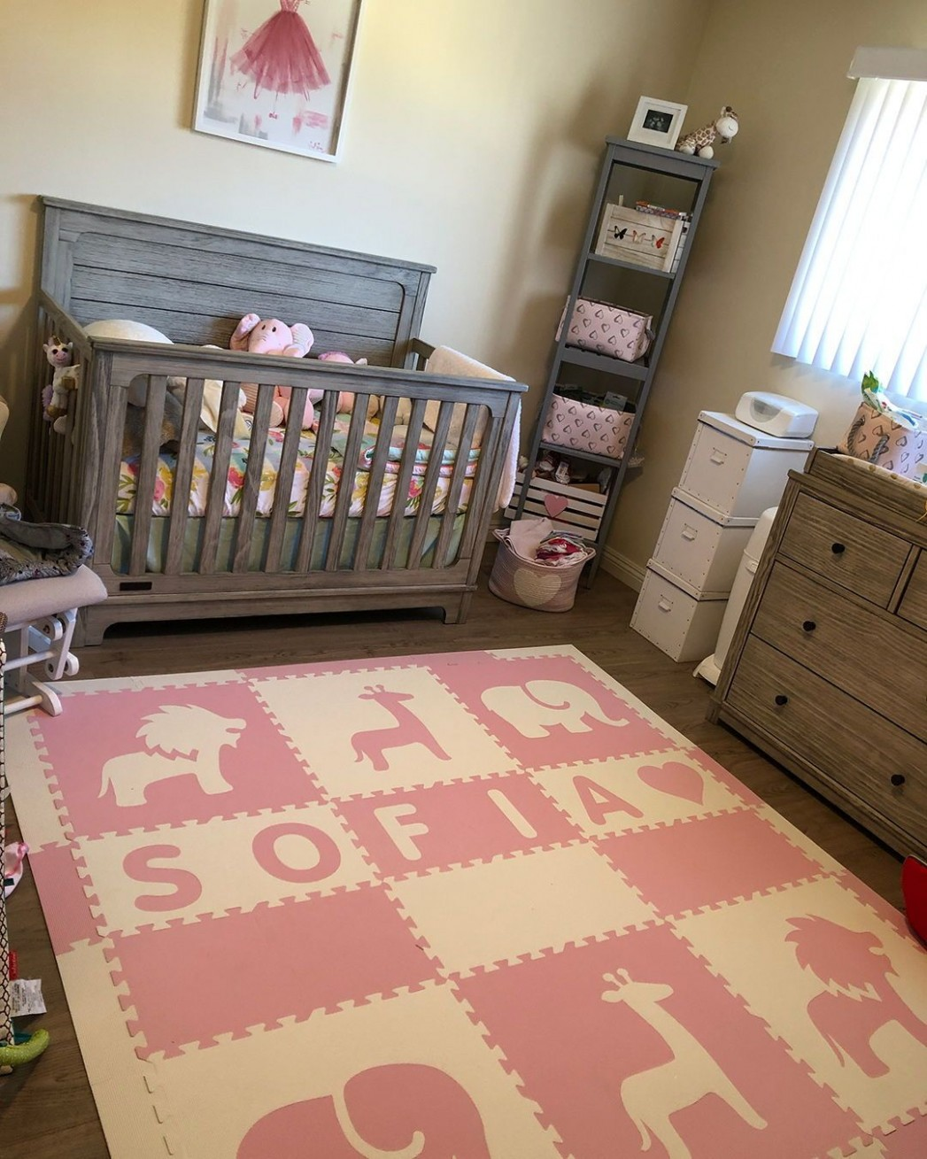 A beautiful nursery with a SoftTiles Easy Personalize Floor