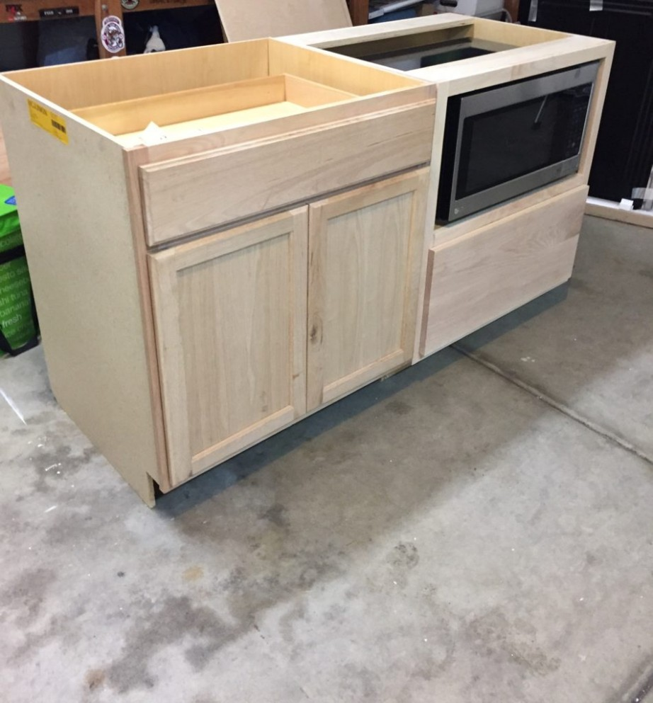 A DIY Kitchen Island: Make it yourself and Save Big!  Domestic Blonde - Build Your Own Kitchen Base Cabinets