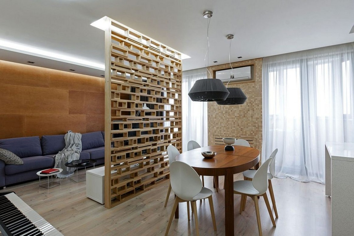 A Lesson in Delineating Space Without Walls: Modern Apartment in  - Apartment Wall Design