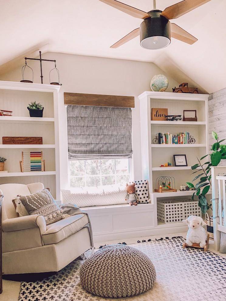 A Modern Nursery Room Refresh: with Organization Ideas - Life By  - Baby Room Bookshelf