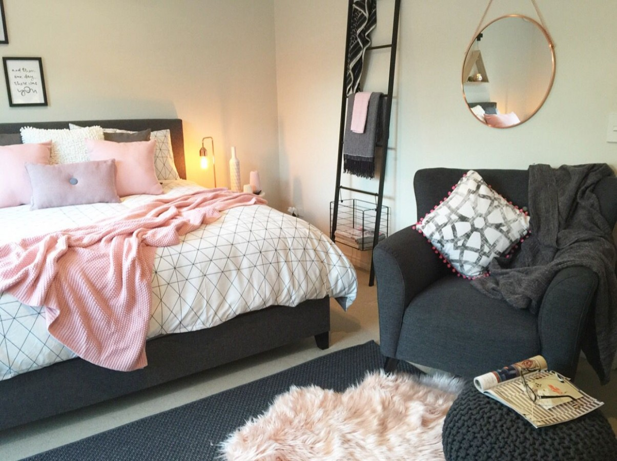 A serious Kmart lover! This master bedroom is a little oasis  - Bedroom Decorating Ideas Kmart