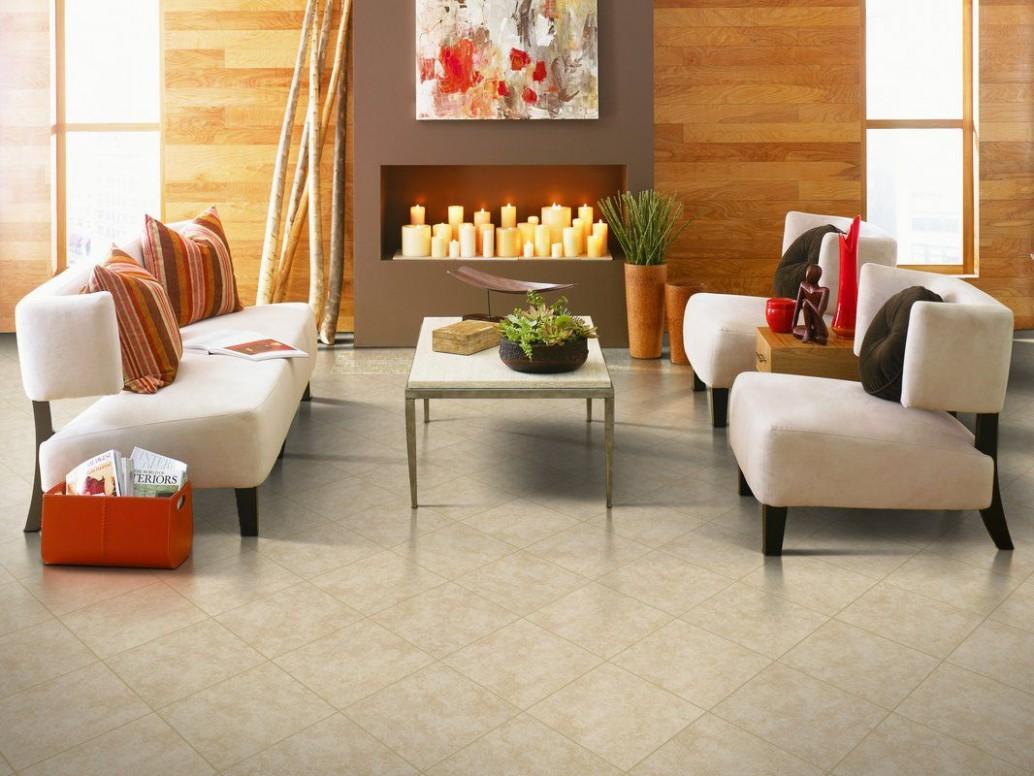 Advantages of Ceramic Floor Tile in Living Rooms - Dining Room Ideas Tile Floor