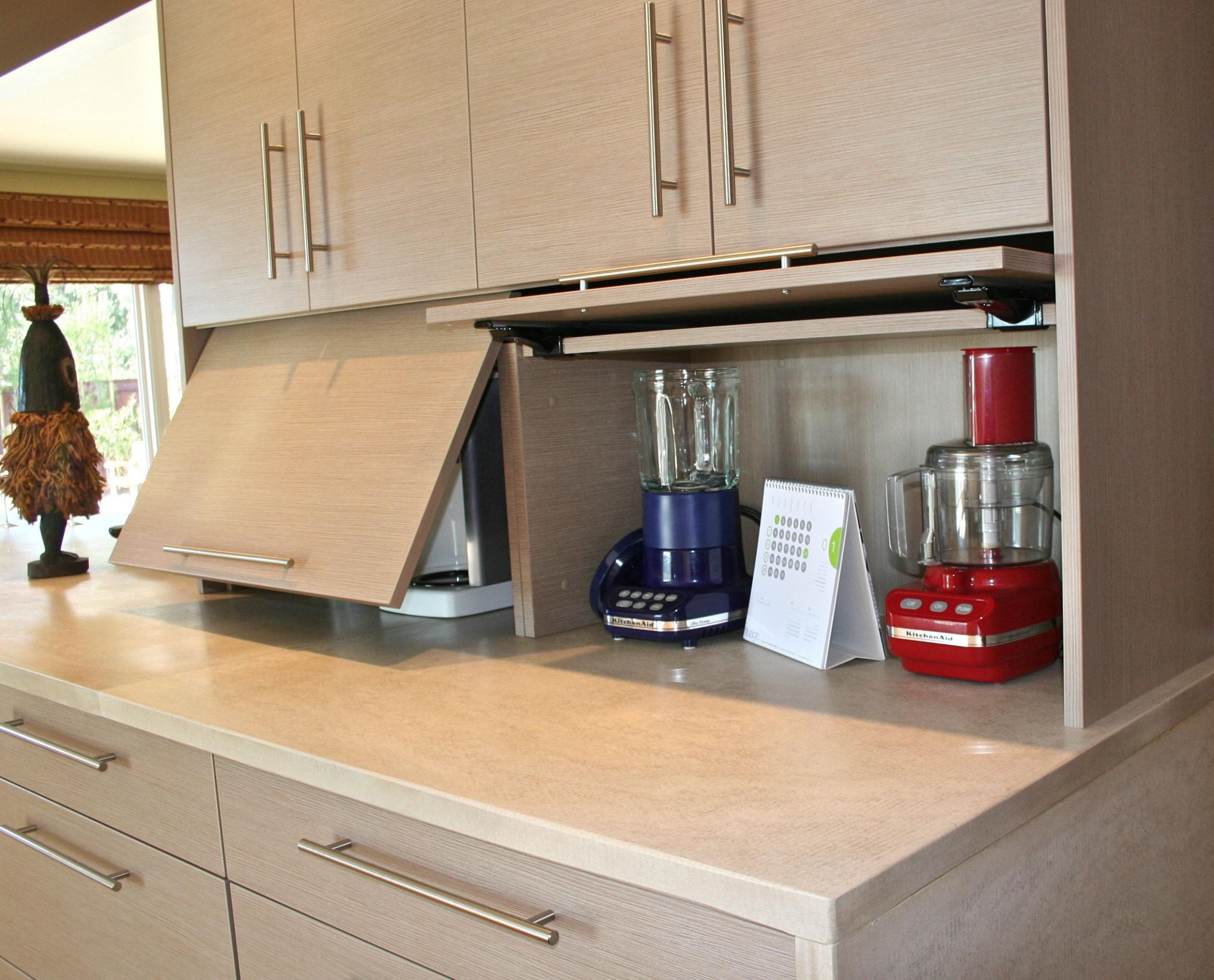alucina design studio  appliance garage  Small kitchen appliance  - Corner Kitchen Cabinet Appliance Garage