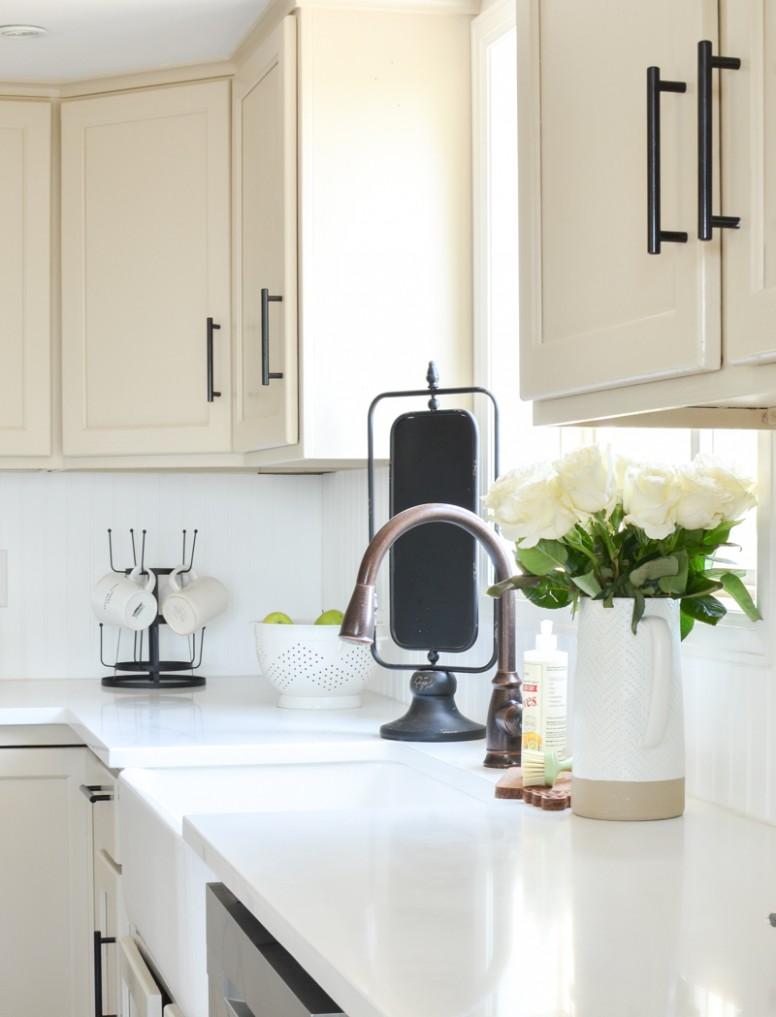 An Honest Review of Our White Quartz Countertops - White Kitchen Cabinets And Quartz Countertops