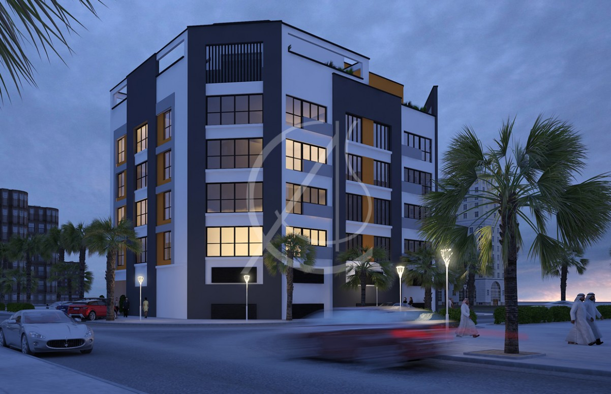 Apartment Contemporary Exterior Design  Comelite Architecture  - Apartment Design Facade