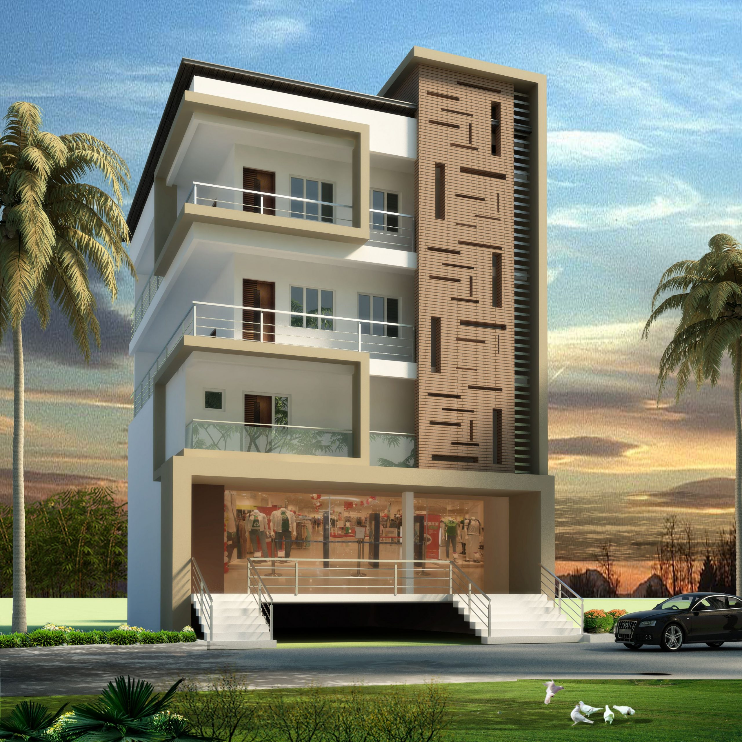Apartment Elevation Design  Small house elevation design, Small  - Apartment Design Elevation