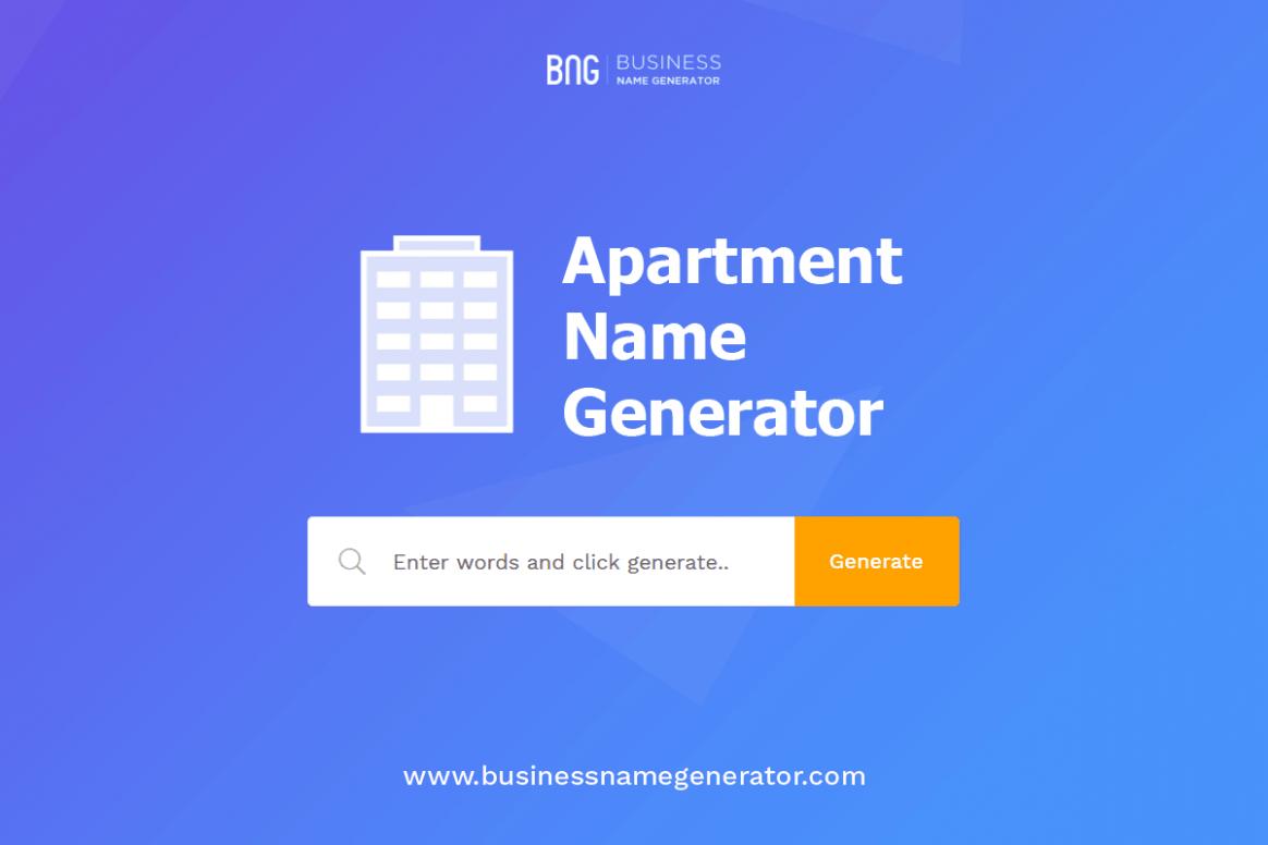 Apartment Name Generator + (Instant Availability Check) - Apartment Design Names