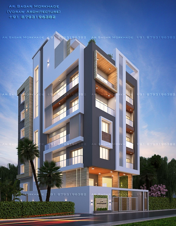 Apartment Outer Design in 10  Apartment architecture, Modern  - Apartment Outer Design