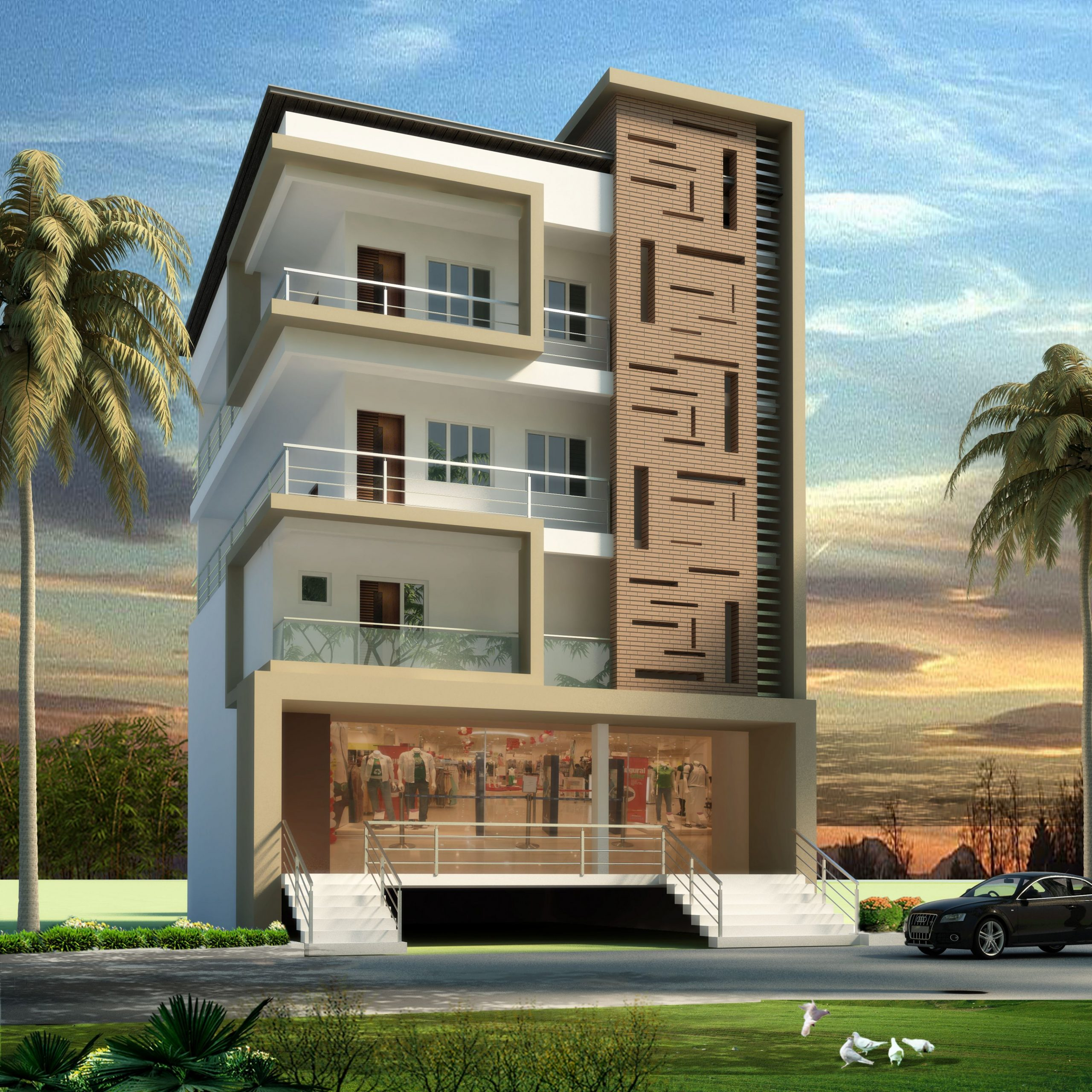 Apartment Outer Design in 10  Small house elevation design  - Apartment Outer Design