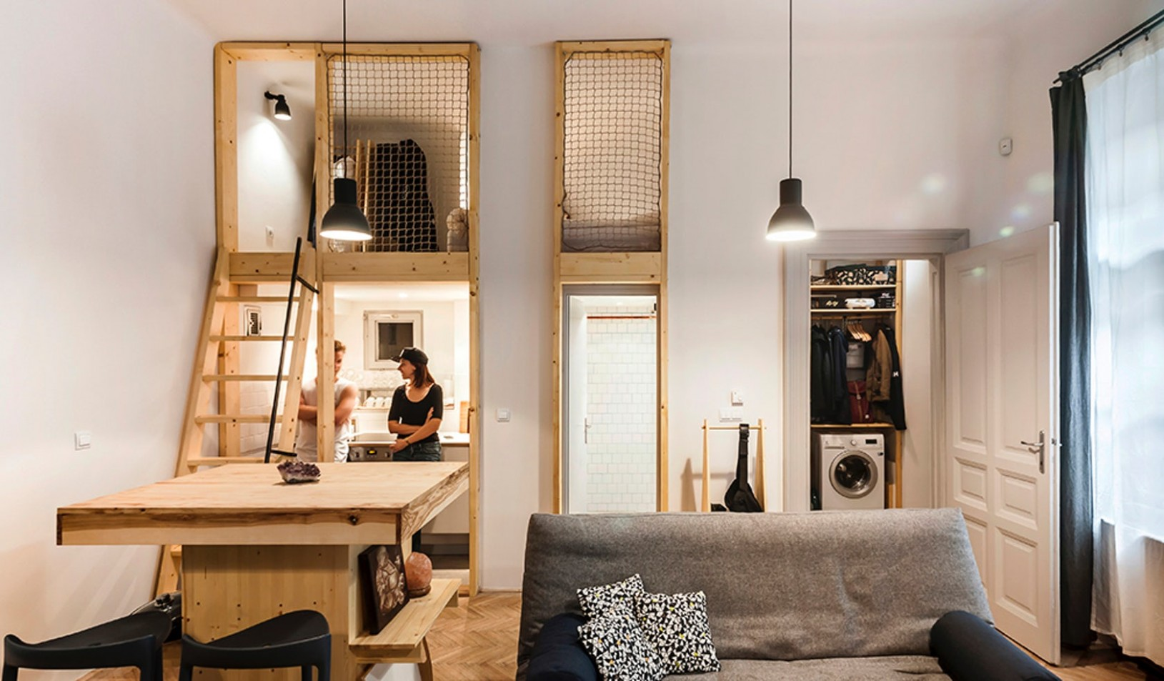 Architectural Drawings: 8 Clever Plans for Tiny Apartments  - Tiny Apartment Design Under 200 Sf